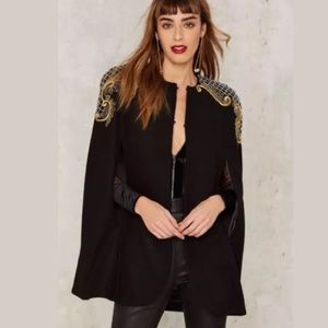 Nasty Gal | Embroidered Gold Cape
